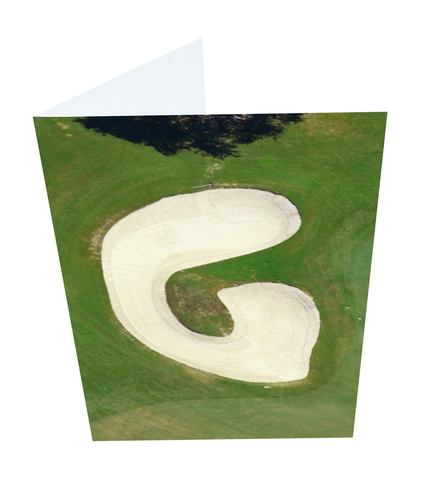 Letter G Greeting Card with Ball Marker