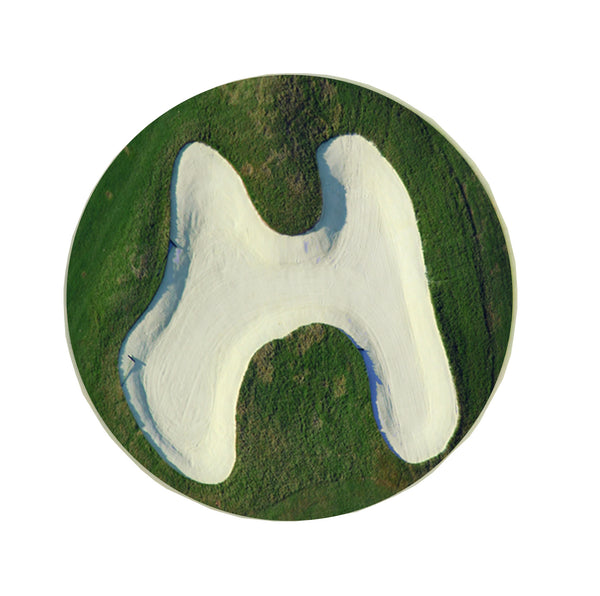 Letter H Greeting Card with Ball Marker