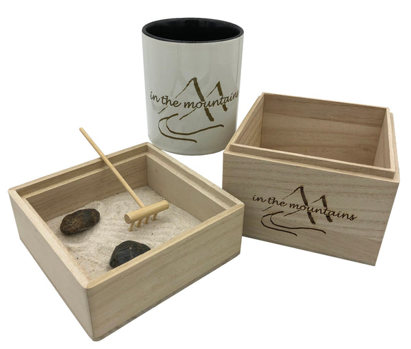 In The Mountains Zen Garden with Mug