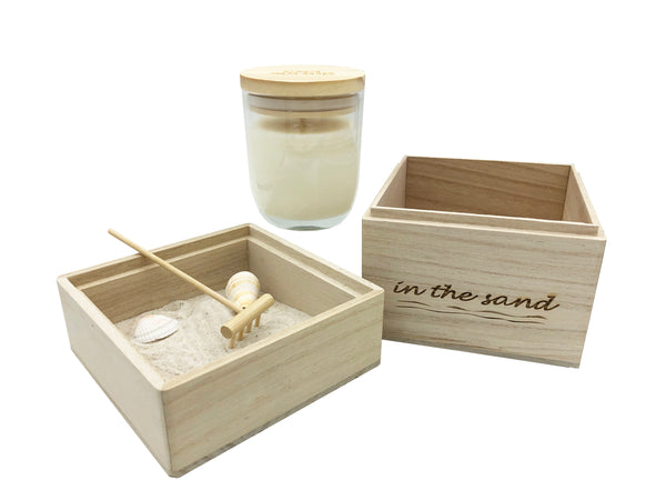 In The Sand Zen Garden with Scented Candle