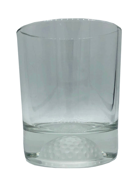 Etched Golf Ball Whiskey Glass