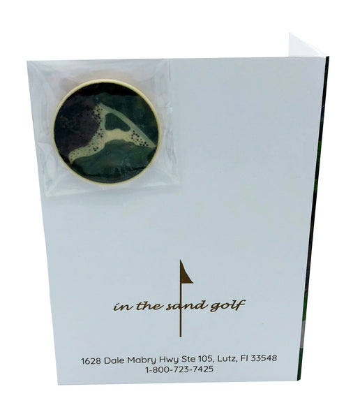 Letter A Greeting Card with Ball Marker