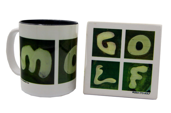 MOM Golf Mug + GOLF Coaster