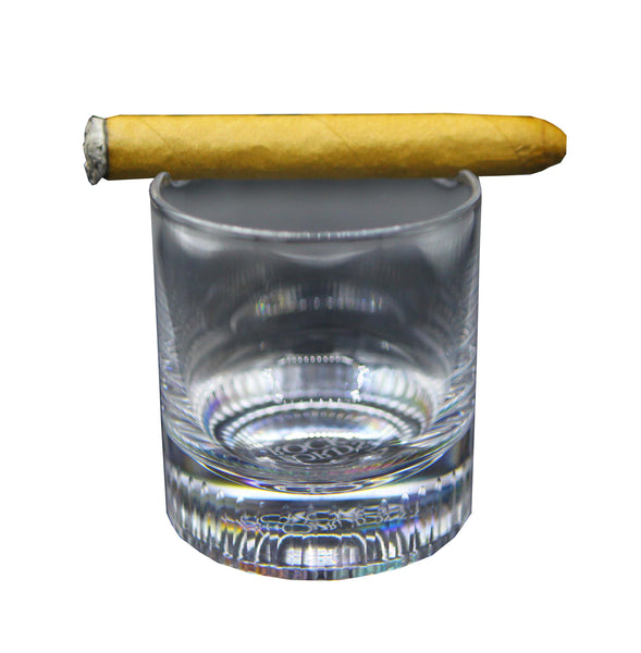 In The Sand Zen Garden with Cigar Whiskey Glass