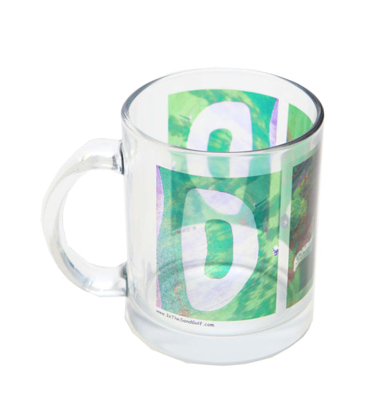 ITS GOLF Zen Garden with DAD Clear Glass Mug