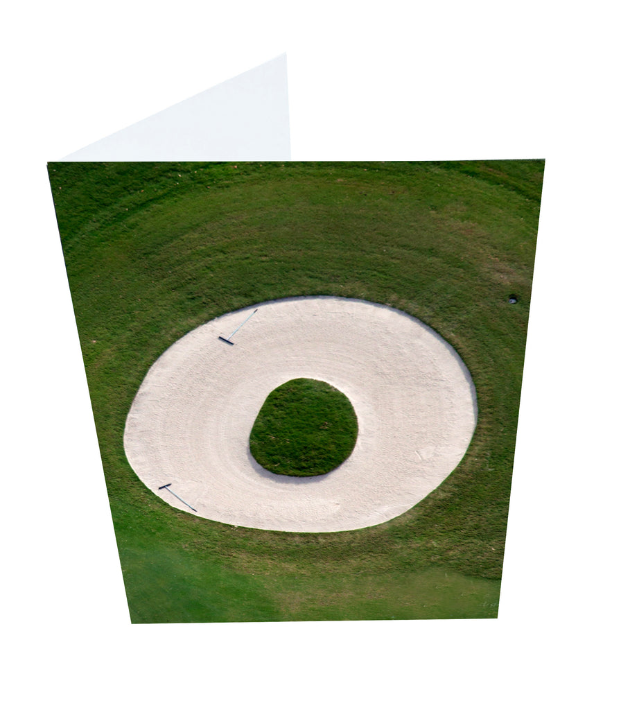 Letter O Greeting Card with Ball Marker