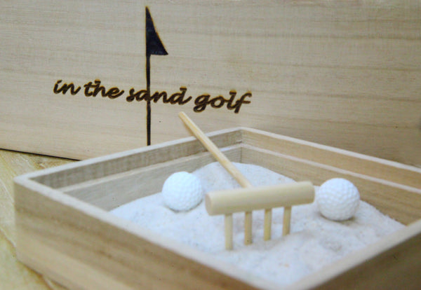 ITS GOLF Zen Garden with Double Wall Glass