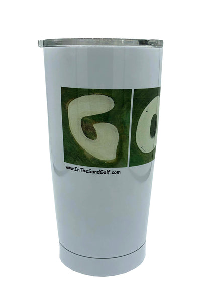 20 oz. Custom White Tumbler