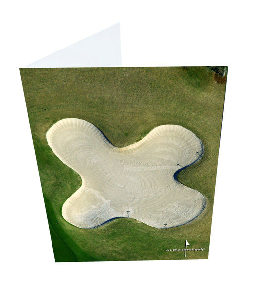 Letter X Greeting Card with Ball Marker