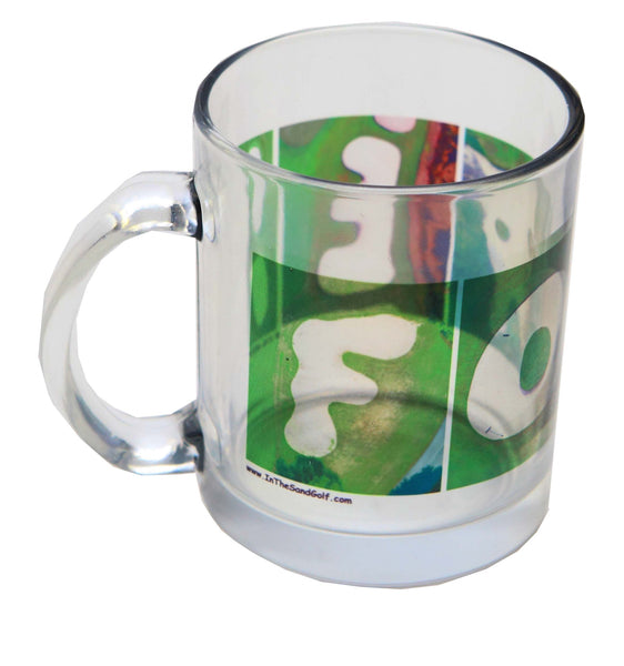 FORE Clear Golf Glass Coffee Mug