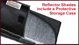 Reflector Shades Include a Protective Storage Case