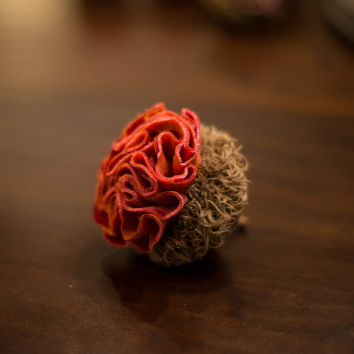 Ruffled Coral Flower