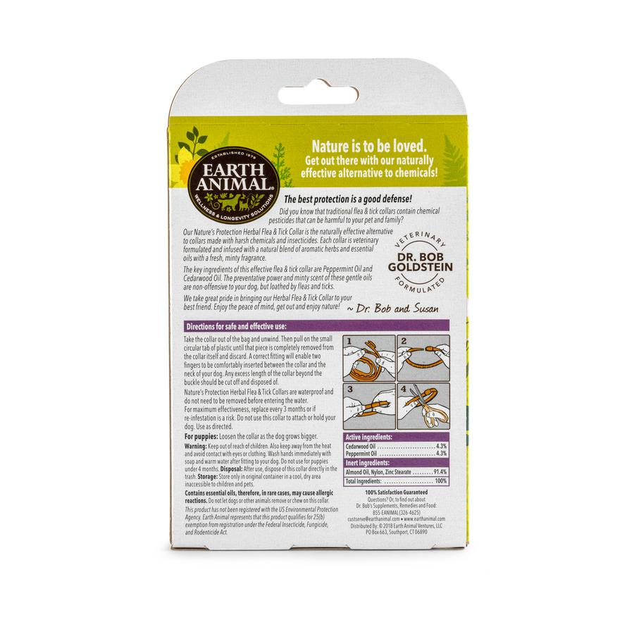 Herbal Flea & Tick Collar (3 months) by Earth Animal