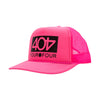 404 Pink Foam Trucker Hat