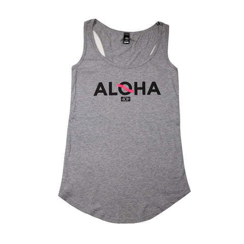 Women's Athletic Aloha Tank Grey