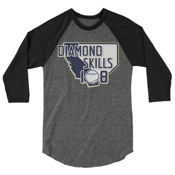 Unisex 3/4 Sleeve Diamond Skills 108