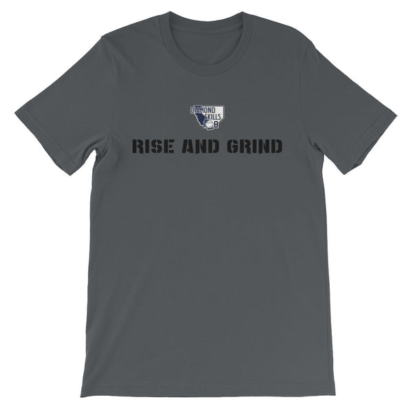 Men's short sleeve t-shirt Rise and Grind (Black Font)