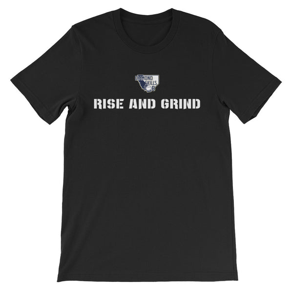 Men's short sleeve t-shirt Rise and Grind ( White Font)