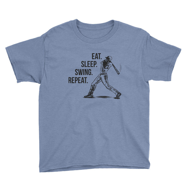 Youth Short Sleeve  Eat. Sleep. Swing. Repeat