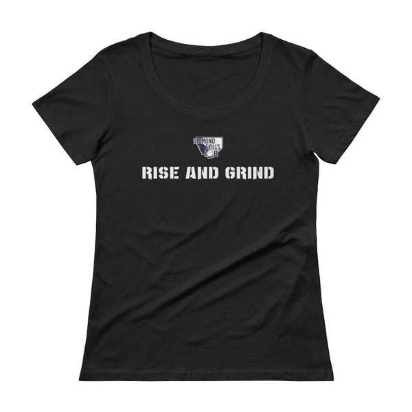 Women's Scoopneck Rise And Grind