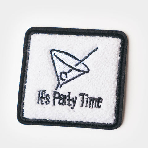 "Chenille Patch - Vintage ""It's Party Time"""