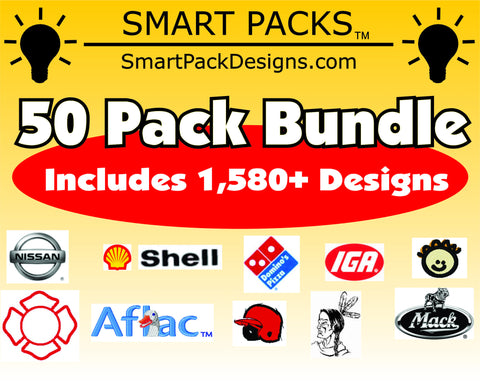 50 Smart Packs Tajima DST Format