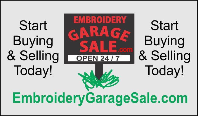 Embroidery Garage Sale