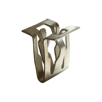 Moulding Clips: Used for attaching mouldings on doors, quarter panels, trunks, etc. They are made of nylon and are sometimes attached with a rivet or with a special tapping screw.