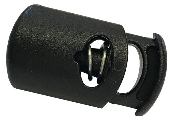"Oval Cylindrical Spring Stop Cord Lock for 3/16"" Cordage - Package Quantity 25 - 200 - Troyer Products"