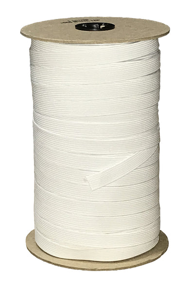 "3/8"" Elastic - White 144 Yards per Roll"