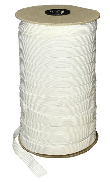 "1/2"" Soft Elastic - White 144 Yards per Roll"