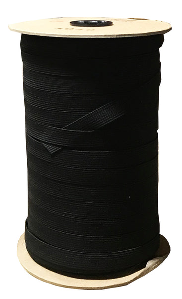 "1/2"" Elastic - Black 1/2"" 144 Yards per Roll"