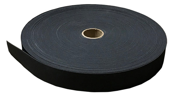 "1-1/2"" Elastic - Black 50Yards per Roll"