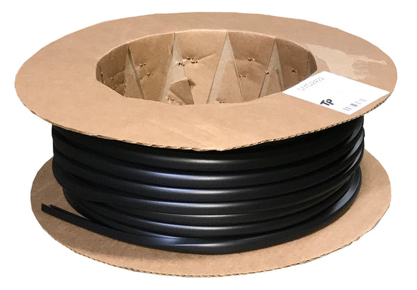 "Snap Over Screw Cover 1/2"" Wide, Matte Black - Package Quantity 200 Feet per Roll - Troyer Products"
