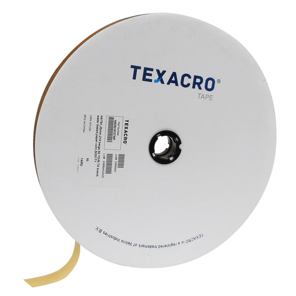 "TEXACRO® Brand Hook 70 1"" Beige Sew On - 50 Yard Roll"