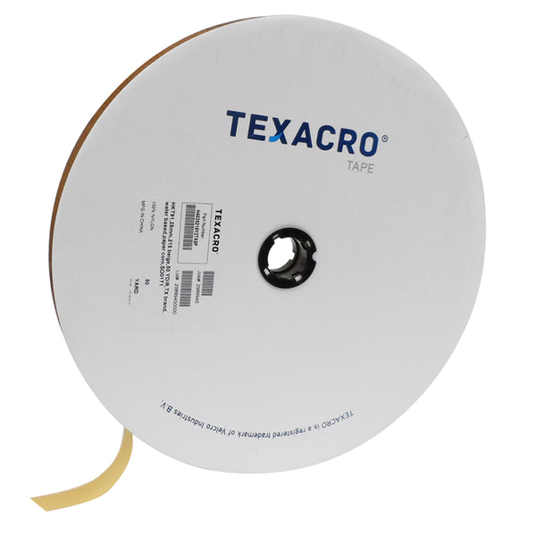 "TEXACRO® Brand Hook 70 2"" Beige Sew On - 50 Yard Roll"