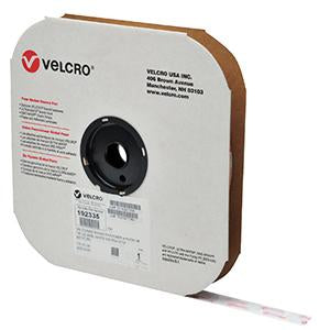"VELCRO® Brand VELCOIN® Hook 88 7/8"" White Pressure Sensitive Adhesive 72 - 900/Roll - Troyer Products"