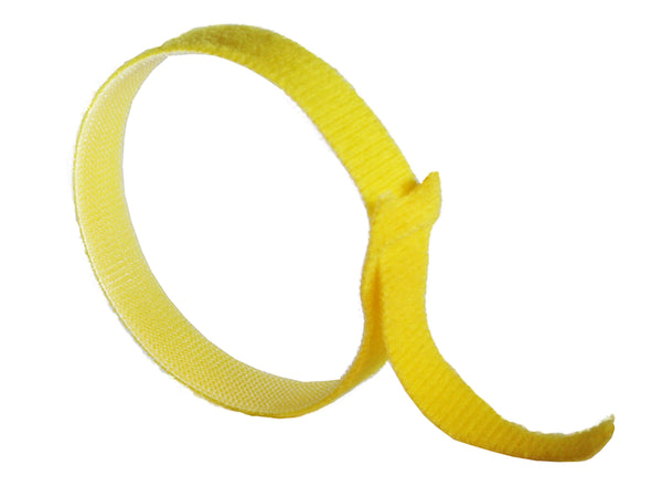 "VELCRO® Brand ONE-WRAP Tie Straps YELLOW - 12"" X 3/4"""
