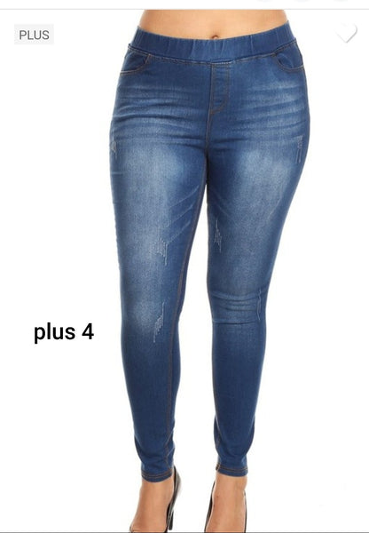 PREORDER Plus Denim Jeggings