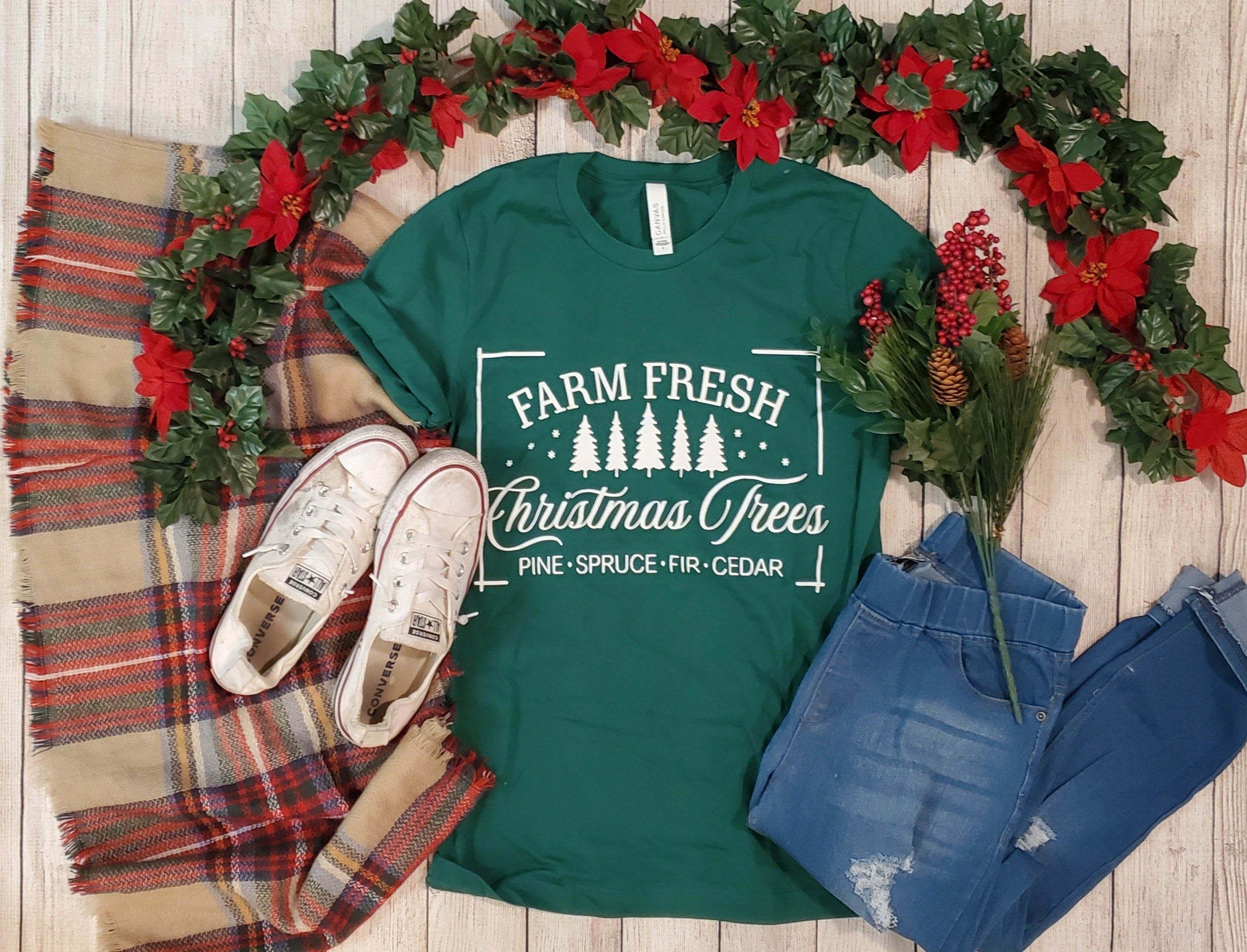 Farm Fresh Christmas Trees Graphic Tee
