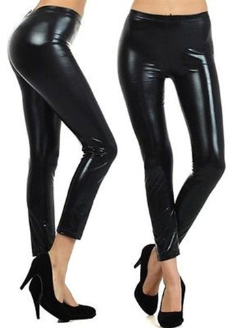 SALE!! Shiny Black Leggings