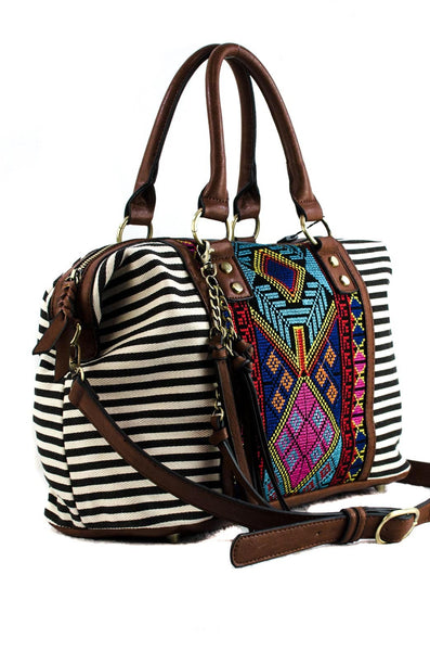Aztec and Stripped Handbag