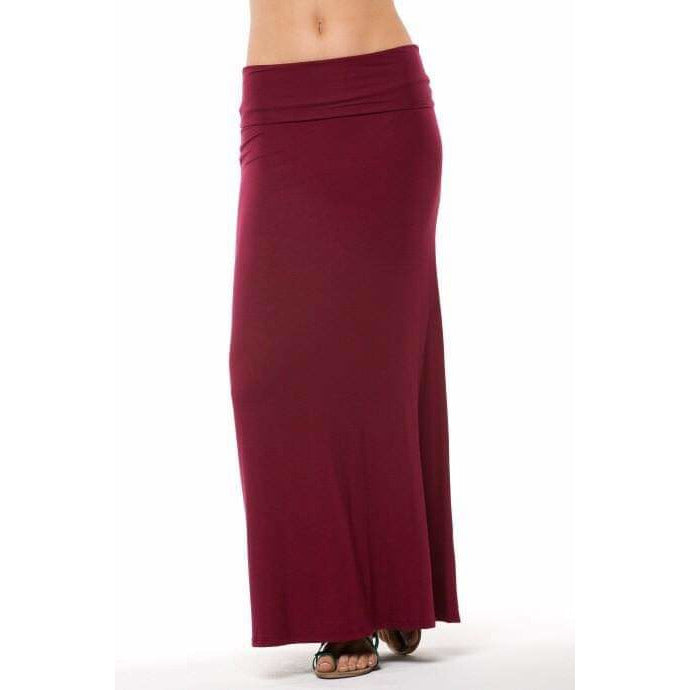 SALE!! Burgundy Maxi Skirt
