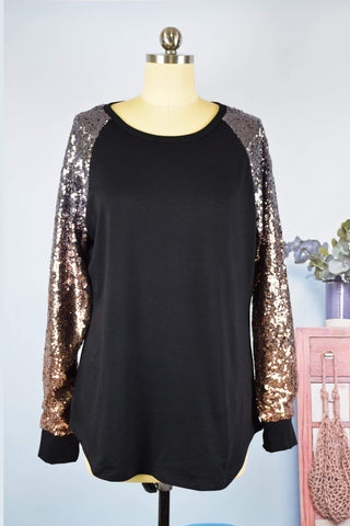 SALE!! Sequin Sleeve Tunic
