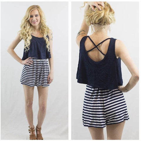SALE!! Nautical Romper-LAST ONE Size Large