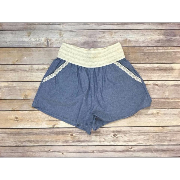 SALE!! Linen Denim Shorts