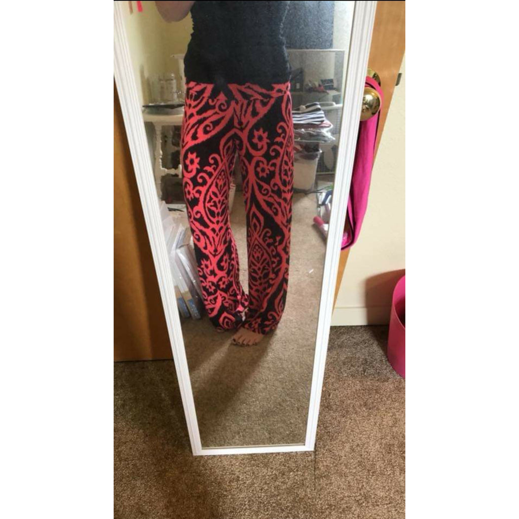 SALE!! Black and Pink Palazzo Pants- LAST ONE SIZE SMALL