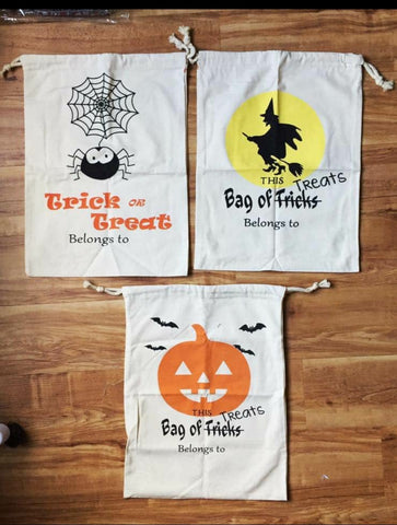 SALE!! Halloween Sacks