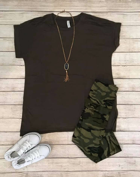 SALE!! Short Sleeve Cuffed Top