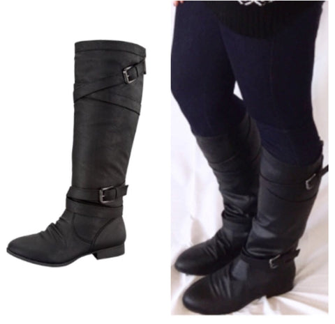 SALE!! Tall Black Boots